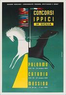 Italian Travel Postcard Sicilia Concorsi Ippici Palermo-Catania-Messina 1959 - Reproduction - Publicité