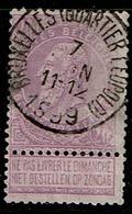 66  Obl  BXL (Quartier Léopold) - 1893-1900 Schmaler Bart