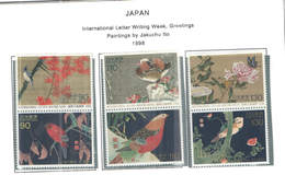 Giappone PO 1998 Int.Letter Wr.Week Paintings By Ito  Scott.2633a+2635a+2637a+See Scan On Sott.page; - 1989-... Imperatore Akihito (Periodo Heisei)