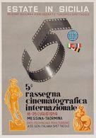 Italian Travel Postcard Sicilia Rassegna Cinematografica Messina-Taormina 1959 - Reproduction - Publicité