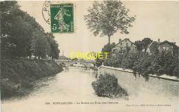 25 Pontarlier, Le Doubs Au Pont Des Chèvres, Carte Pas Très Courante Affranchie 1908 - Pontarlier