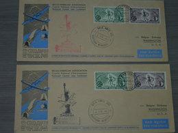 BELG.1946 2 X Belgo-American Association Vol Spécial Belgique-Eats Unis/Speciale Vlucht Belgie-USA OCB LP12/13 - Airmail