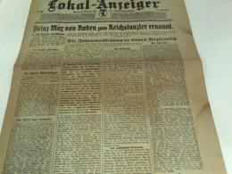 Berliner Lokal-Anzeiger Zentral-Organ Für Die Reichshauptstadt Nr. 507 (Freitag, 4. Oktober 1918)  Morgenausga - Bücher, Zeitschriften, Comics
