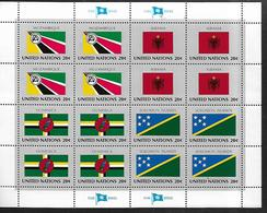 United Nations U.N. 1982 Sc#381a Flags Of MOZAMBIQUE-ALBANIA-DOMINICA-SOLOMON ISLANDS, Se-tenant Block Of 4 MNH - Briefmarken