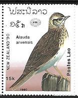 Laos 1990 - MNH - Eurasian Skylark (Alauda Arvensis - Zangvogels