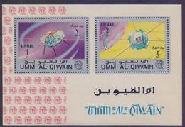 UMM AL QIWAIN 1965 - SPACE ITU Communications, Miniature Sheet MNH - Space