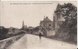 Carte Postale Ancienne De Pontchâteau(44) L'arrivée De La Route De Nantes - Pontchâteau
