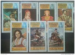 Paintings 05 Yemen Aden QUAITI QU'AITI STATE IN Hadhramaut Mi.108A-114A Set 7v. MNH Famous Painters - Queen - Kings - Yemen