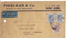 Hong Kong Airmail Cover 1938 King George VI (1895-1952) 20 Cent, 10 Cent - Hong Kong (...-1997)