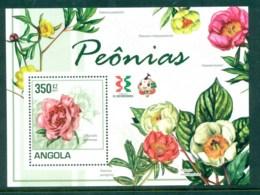 Angola 2011 Flora, Flower, Plant,Peonies MS MUH AN001 - Angola