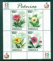 Angola 2011 Flora, Flower, Plant,Peonies MS MUH AN002 - Angola
