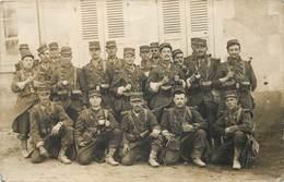 COSNE - Militaires Infanterie , Carte Photo En 1914. - Cosne Cours Sur Loire