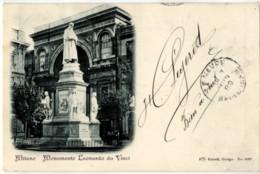 Italie / Italia MILANO Monumento Leonardo Da Vinci Précurseur - Milano (Milan)