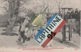 CPA JOINVILLE LE PONT 94 ECOLE NORMALE DE GYMNASTIQUE ET D ESCRIME.CAMP DE SAINT MAUR.EXERCICE D APPLICATION  X X - Joinville Le Pont