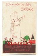 CPA - HUMOUR - Sauvons Les Bébés Par L'allaitement Maternel - N° 824 - Illust. H. Stéphany - Imp. G. Bataille Paris - Humour