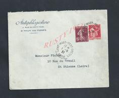 LETTRE COMMERCIALE SUR TIMBRES ANTIPHLOGISTINE SAINT MAUR DES FOSSÉS : - Lettres & Documents