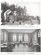 Lot De 2 Cartes De L'Abbaye N.D. De Scourmont - Forges-Chimay - Scriptorium Cimetière TBE CPA écrite - Courcelles