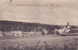 CPA - 27 - MAINNEVILLE - Ensemble Du Moulin - église - Château - France