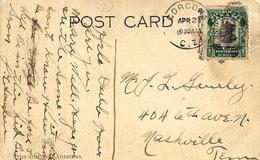 1921-Post Card  Fr. 1 Centesimo  CANAL / ZONE  Canc. CORCONA  To U S A - Panama