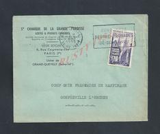 LETTRE COMMERCIALE SUR TIMBRE SAINTE CHIMIQUE DE LA GRANDE PAROISSE AZOTES PARIS RUE COGNNACQ JAY USINE GRAND QUEVILLY : - France