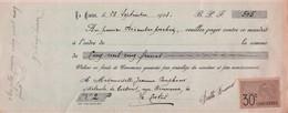 La Ciotat   1923   Débitante De Boissons Rue Bouronne - Bills Of Exchange