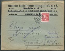 Doc.  Avec Adolf Hitler Obl. 15/12/1942  Sur Lettre à Entête Commerciale - Bohême & Moravie