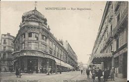 Carte Postale Ancienne De Montpellier La Rue Manguelonne - Montpellier