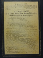 Marie Bruyninckx Mère Marie-Philomène Oplinter 1820 Braine-l'Alleud 1900 /22/ - Images Religieuses