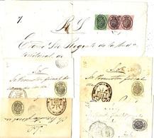 1855- 9  Enveloppe, Devant ( Front ) Ou Fragment De Lettre Avec Affr. Timbres De Service - 1850-68 Royaume: Isabelle II