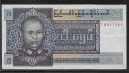 Birmanie - 5 Kyats  - Pick N° 57 - SUP - Billets