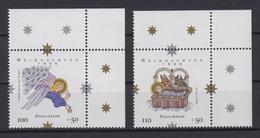 Bund 2084-2085 Eckrand Rechts Oben Weihnachten Kompl. Satz Postfrisch - BRD