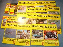1980 SHELL Helpt 18 Autobrochure's Van Shell Uit De 80 Er Jaren  Zie Scans - Livres, BD, Revues