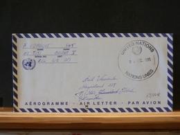 79/444   AEROGRAMME     U.N. MISSION  MILITAIRE ETRANGER - Belgique