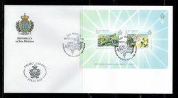FDC SAN MARINO EMISSION CONJOINTE MALTE SAN MARINO - CHATEAUX - Emisiones Comunes