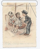 ETAT---ILLUSTRATEUR.GERMAINE BOURET..TRAIN . -RECTO/VERSO- B29 - Bouret, Germaine