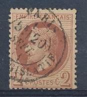 FRANCE - Yv. Nr 26 - Napoléon III Lauré - Gestempeld/oblitéré  - Cote 35,00 € - 1863-1870 Napoleon III With Laurels