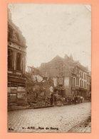 CPA DE 1919 - 62 - AIRE SUR LA LYS - RUE DU BOURG APRES BOMBARDEMENT - Aire Sur La Lys