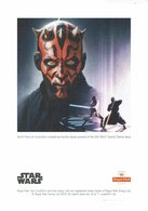 ILLUSTRATION STAR WARS SPECIAL STAMPS ISSUE DARTH MAUL - Cinema
