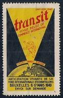 BELGIQUE - VIGNETTE - TRANSIT - REVUE BELGE DE COMMERCE INTERNATIONALE - Postage Labels