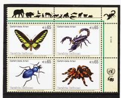 LVT68 UNO WIEN 2009 1/2 POSTPREIS MICHL 588/91 ** Postfrisch Siehe ABBILBUNG - Wien - Internationales Zentrum