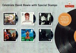 CARD ROYAL MAIL DAVID BOWIE - Música