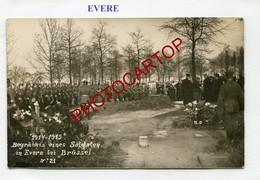 EVERE-Enterrement-Cimetiere-CARTE PHOTO Allemande-Guerre 14-18-1WK-BELGIEN-Flandern- - Evere