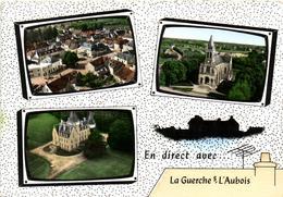 1 Cpsm La Guerche Sur L'aubois - Place Des Victoires - La Poste - L'église - La Guerche Sur L'Aubois