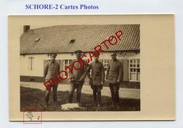 SCHORE-2x CARTES PHOTOS Allemandes-Guerre 14-18-1WK-BELGIEN-Flandern- - Middelkerke