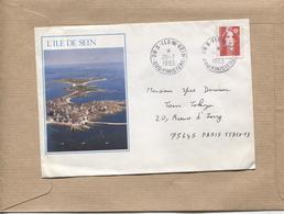 France 1 Enveloppe Illustrée Ile De Sein Timbre 2806 Oblitération Ile De Sein 26 07 1993 - Storia Postale