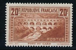 """CF-51: FRANCE: Lot  """"SITES ET MONUMENTS"""" Avec N°262*  (lot 2, Pli Au Verso) - France"""