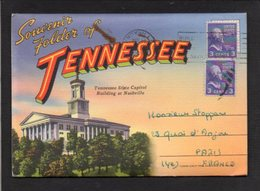 Etats-Unis /  T.N. Dépliant 18 Vues / Greetings From Tennessee,State Capitol Building At Nashville - Nashville