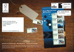 ROYAL MAIL COMMUNICATION STAMPS TIMBRES MAIL BY RAIL - Trenes