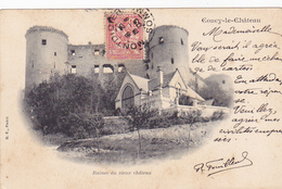 Cpa- 02-coucy Le Chateau-ruines Du Chateau-edi B.F. Paris - Other Municipalities