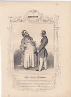 DAUMIER.  LES ROBERT-MACAIRE N° 3. ESCOMPTEUR.  268 X 197   / 6000 - Estampes & Gravures